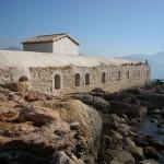 Det romerska badet från sjösidan