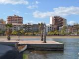 Playan ligger centralt i staden.