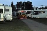 Tåget som förde deltagare mellan campingen och de olika arrangemangen
