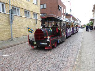 Tuftuftåget på besök i Oskarshamn.