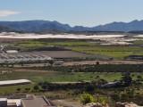 Utsikt från berget med Jesusstatyn i Mazarrón.