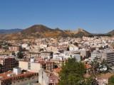 Vy från berget med Jesusstatyn i Mazarrón.
