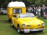 Karman Ghia med husvagn fick tredje pris.