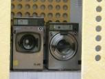 Tvättmaskinerna i stora sanitetsbygnaden.